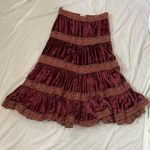 Crushed Velvet Skirt